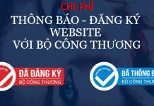 Chi phí đăng ký website với bộ công thương