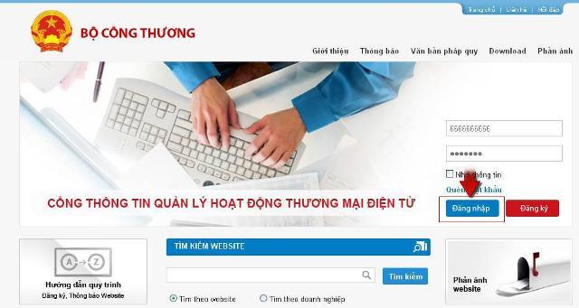 Quy trình đăng ký website thương mại điện tử bán hàng