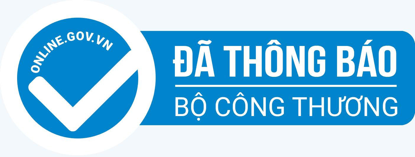 logo đã thông báo website với bộ công thương