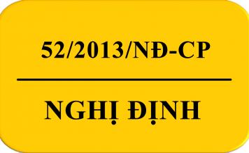 nghị định số 52/2013/nđ-cp