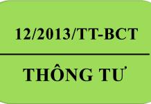 Thông tư 12/2013/TT-BCT