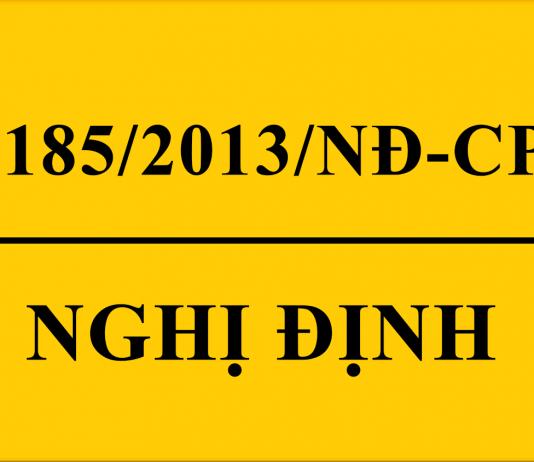 Nghị định số 185/2013/NĐ-CP