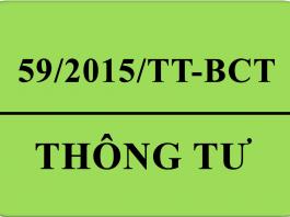 Thông tư 59/2015/TT-BCT