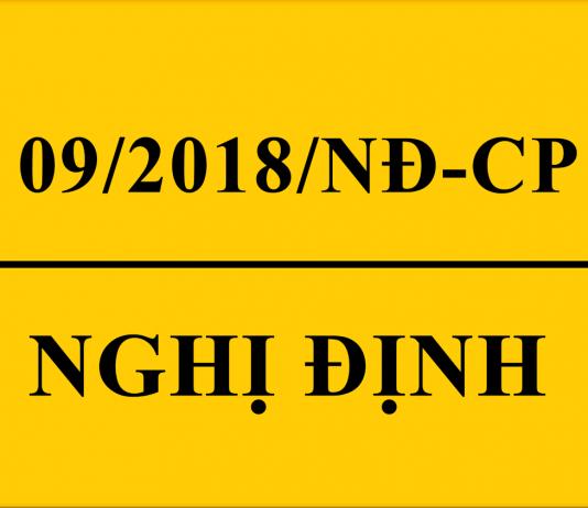 Nghị định 09/2018/NĐ-CP