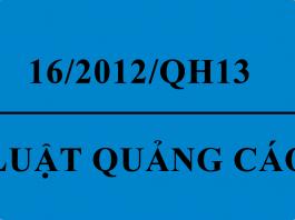 luật quảng cáo 16/2012/QH13