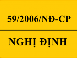 59/2006/NĐ-CP
