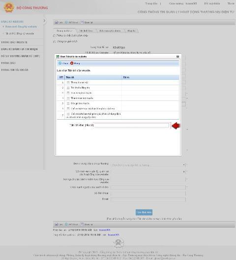 quy trình đăng ký website cung cấp dịch vụ thương mại điện tử