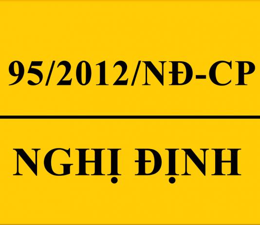 Nghị định 95/2012/NĐ-CP